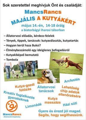 Mancs-Rancs majális a kutyákért - május 14.